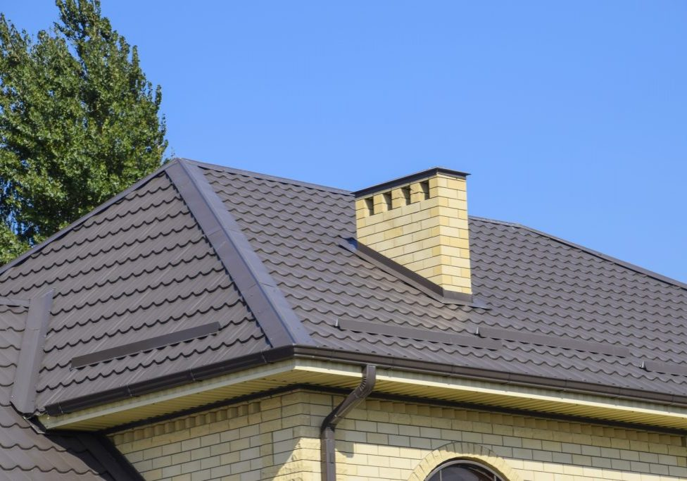 galvalume roof with chimney