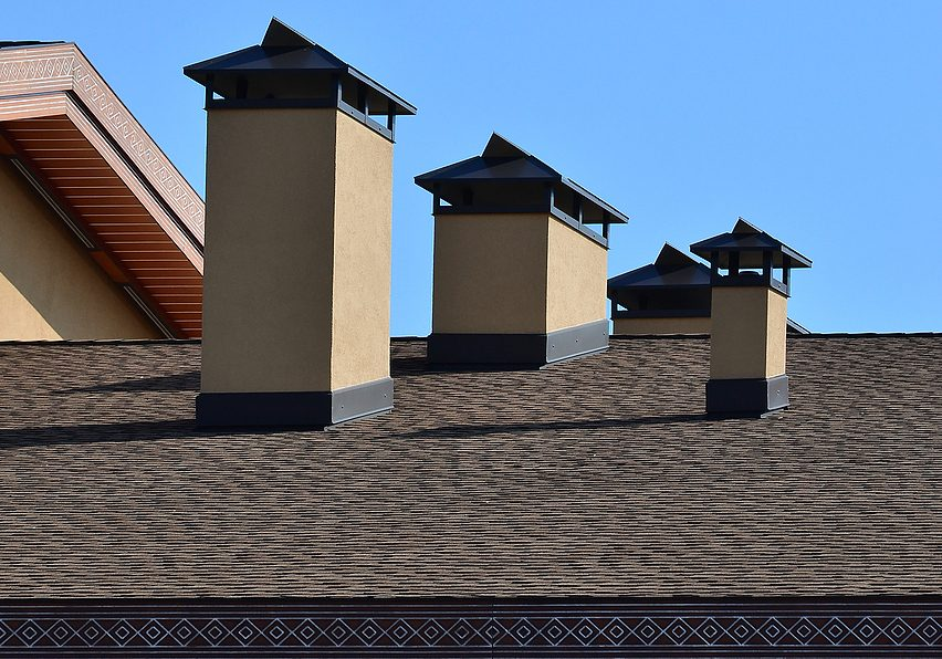 modern roofing and decoration of chimneys